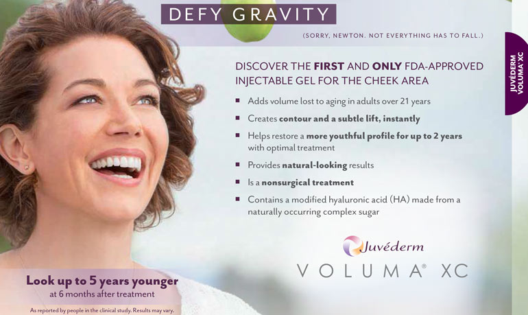 Juvéderm in Ft Lauderdale -- add volume to aging cheeks